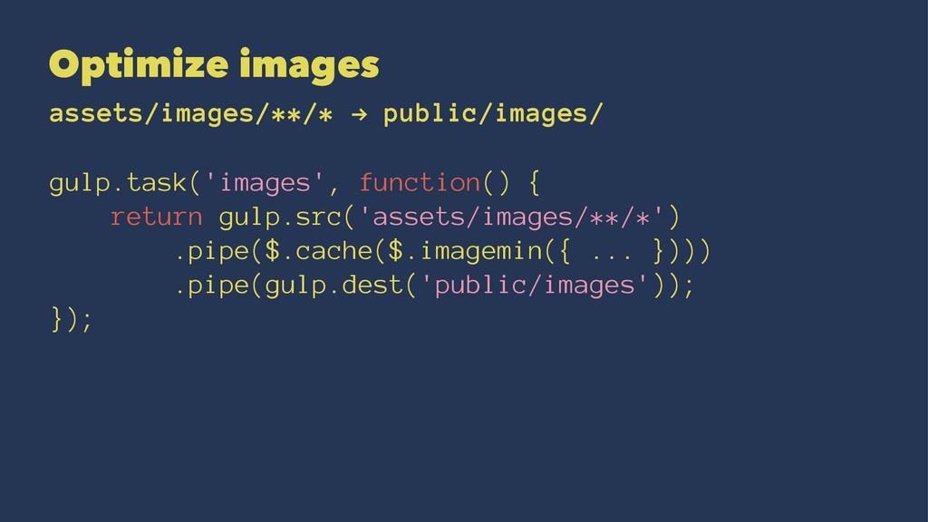 Optimize images assets/images/**/* ! public/ima...