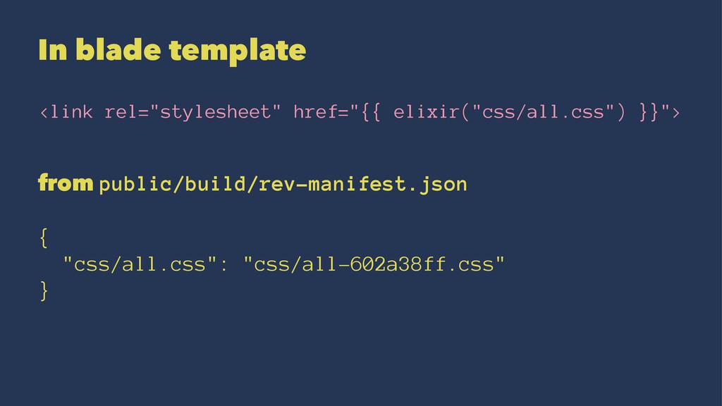 "In blade template <link rel=""stylesheet"" href=""..."