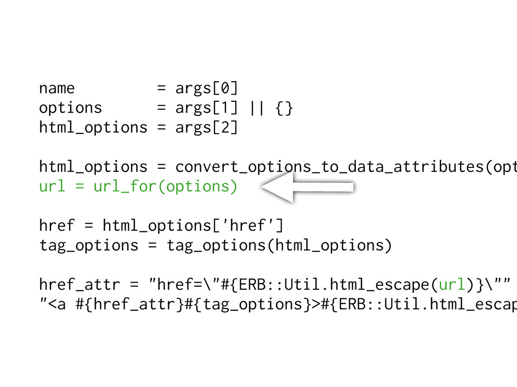 name = args[0] options = args[1]    {} html_opt...