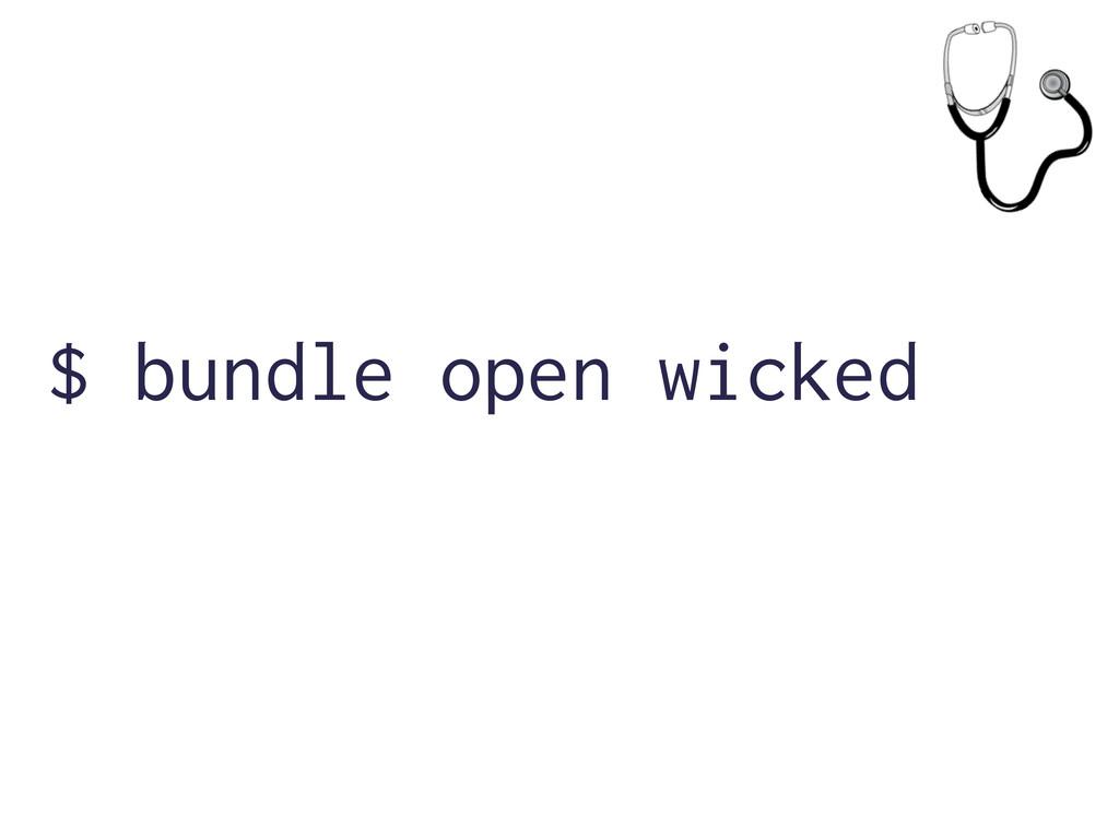 $ bundle open wicked