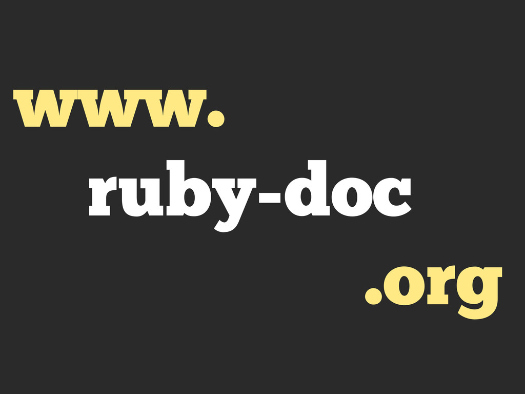 www. ruby-doc .org
