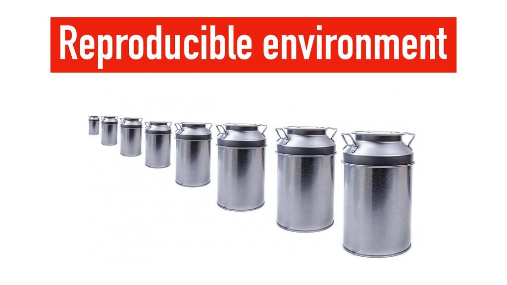 Reproducible environment