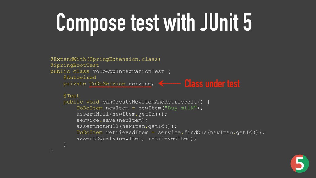 Compose test with JUnit 5 @ExtendWith(SpringExt...