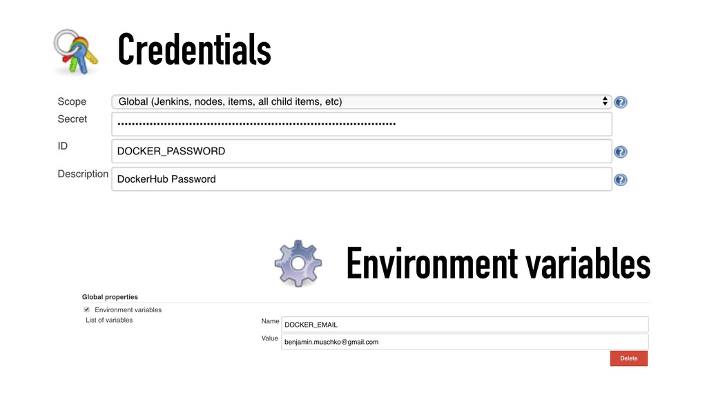 Credentials Environment variables