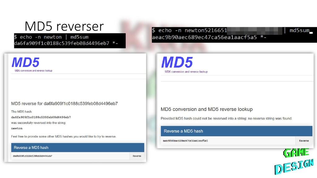 MD5 reverser