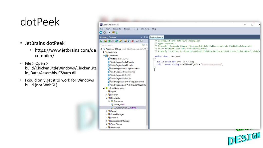 dotPeek • JetBrains dotPeek • https://www.jetbr...