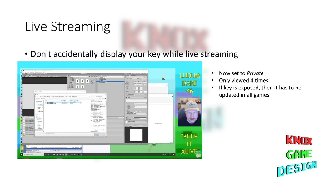 Live Streaming • Don't accidentally display you...