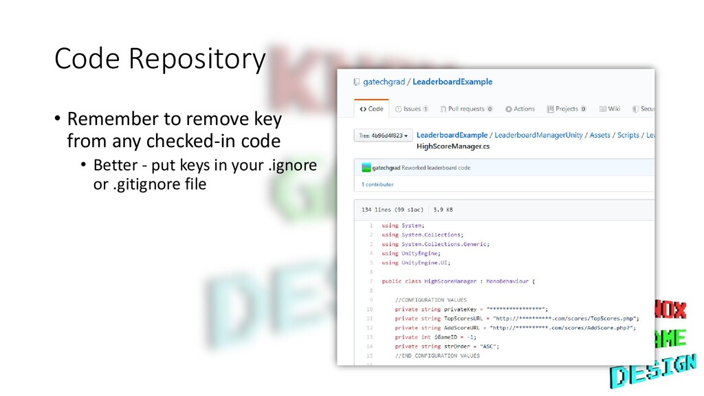 Code Repository • Remember to remove key from a...