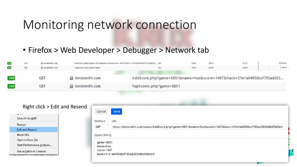 Monitoring network connection • Firefox > Web D...