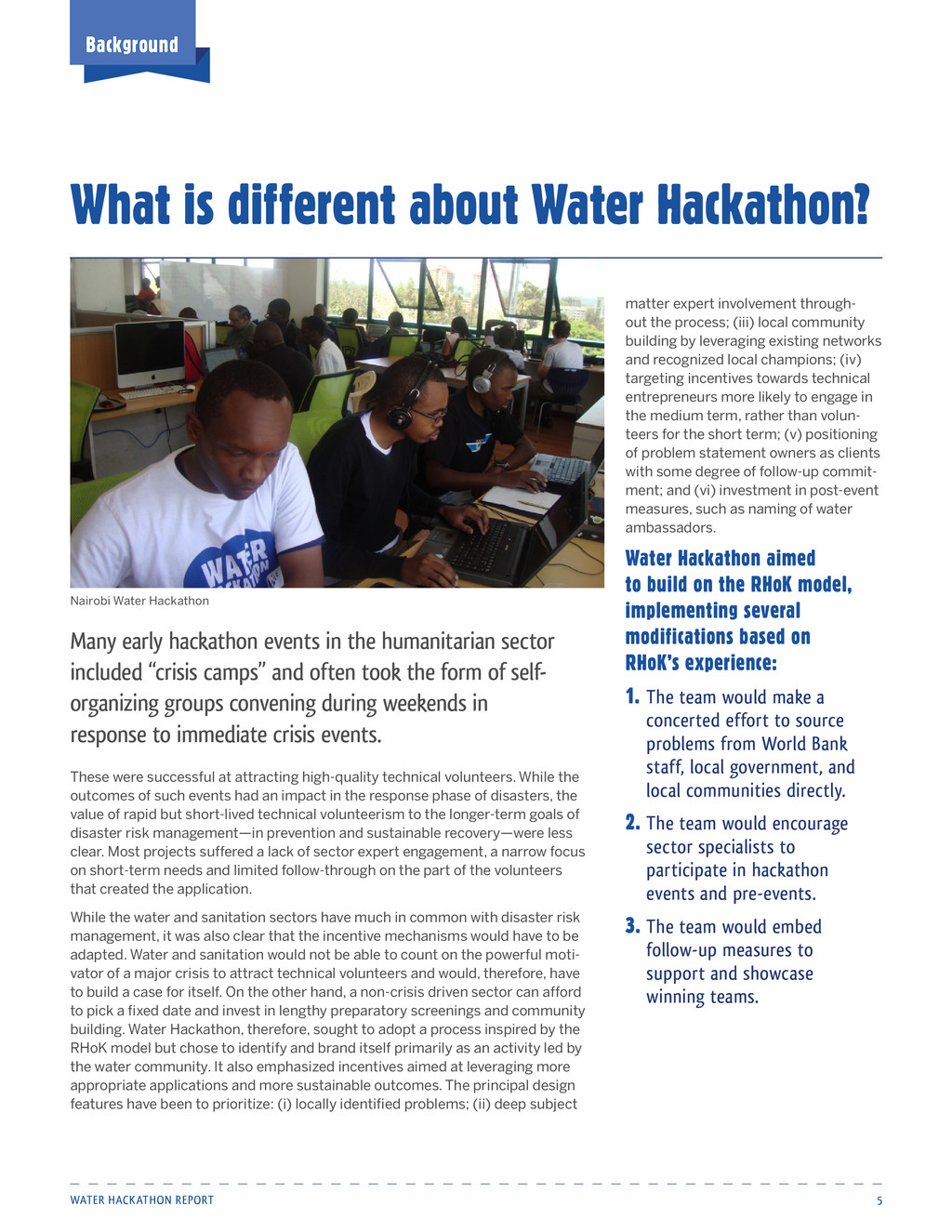 Water Hackathon Report 5 Many early hackathon e...