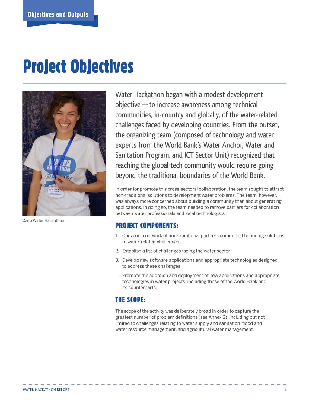 Water Hackathon Report 7 Water Hackathon began ...