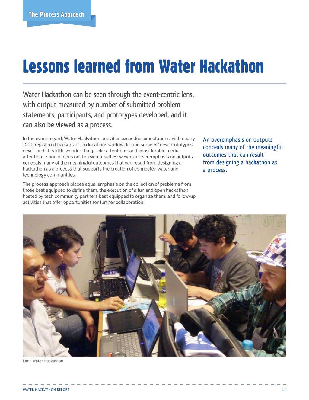 Water Hackathon Report 10 Water Hackathon can b...