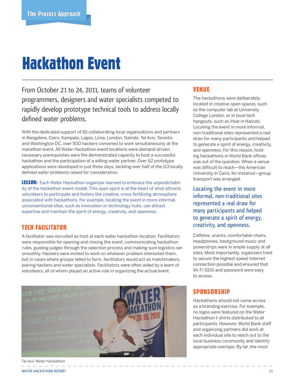 Water Hackathon Report 21 Hackathon Event The P...