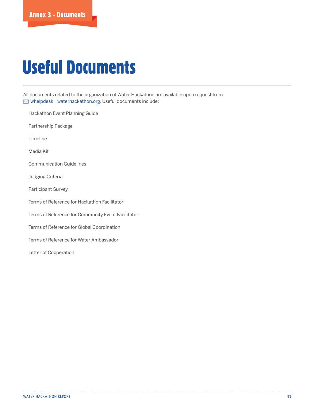Water Hackathon Report 53 Annex 3 - Documents U...