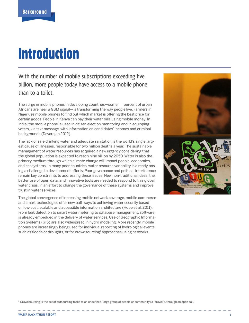 Water Hackathon Report 1 Background Introductio...
