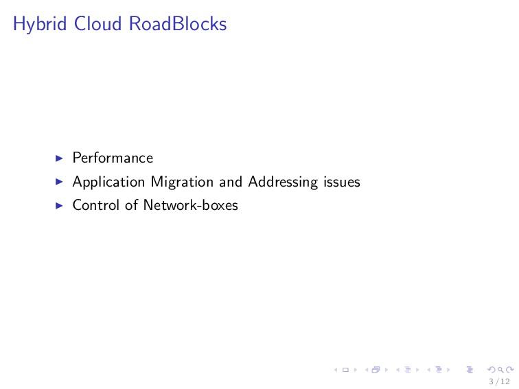 Hybrid Cloud RoadBlocks Performance Application...