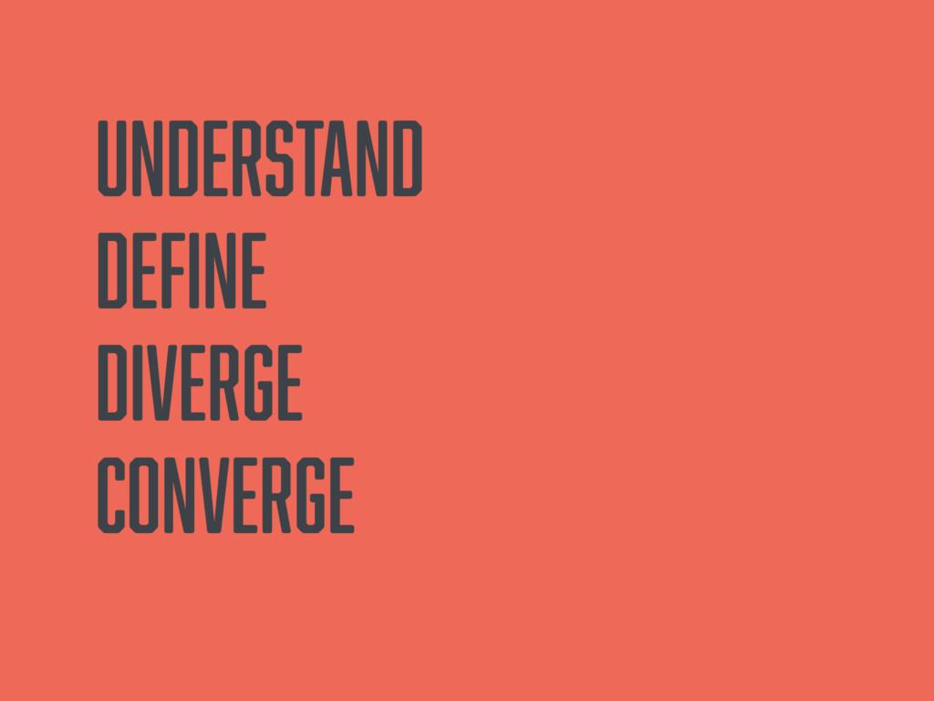 Understand Define Diverge Converge