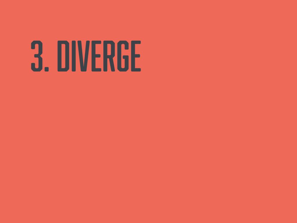 3. Diverge
