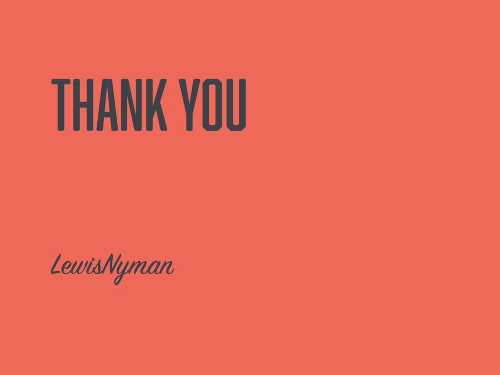 Thank you LewisNyman