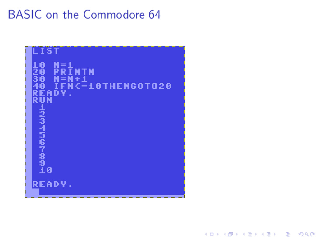BASIC on the Commodore 64