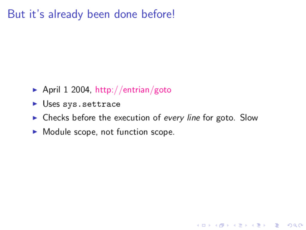 But it's already been done before! April 1 2004...