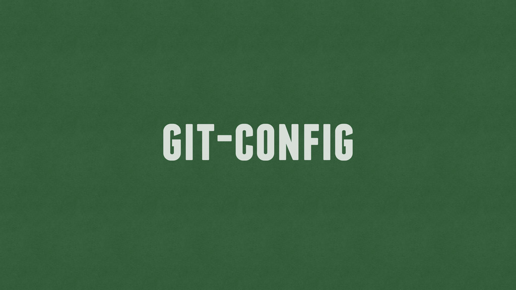 git-config