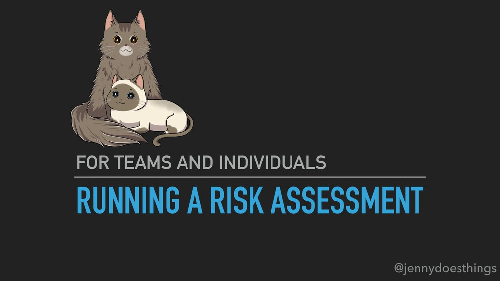 RUNNING A RISK ASSESSMENT FOR TEAMS AND INDIVID...