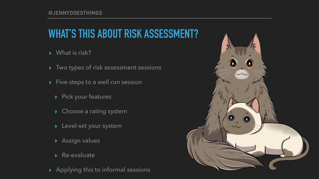 @JENNYDOESTHINGS WHAT'S THIS ABOUT RISK ASSESSM...