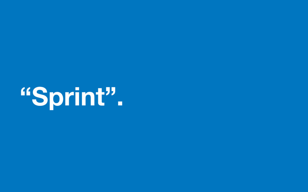 """Sprint""."