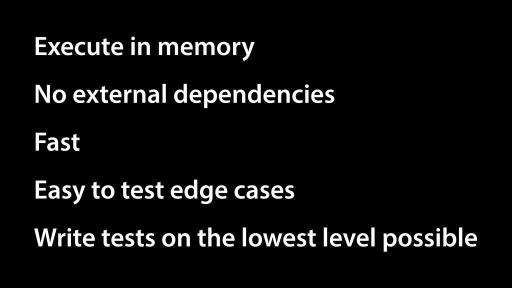 Execute in memory No external dependencies Easy...