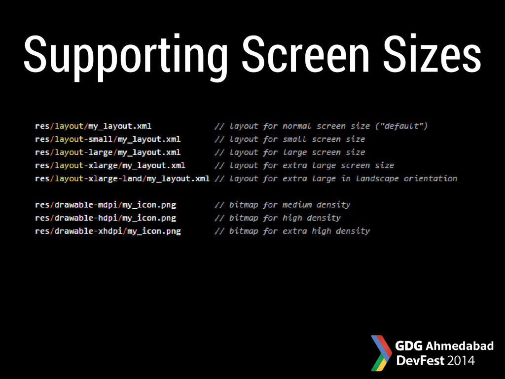 Supporting Screen Sizes