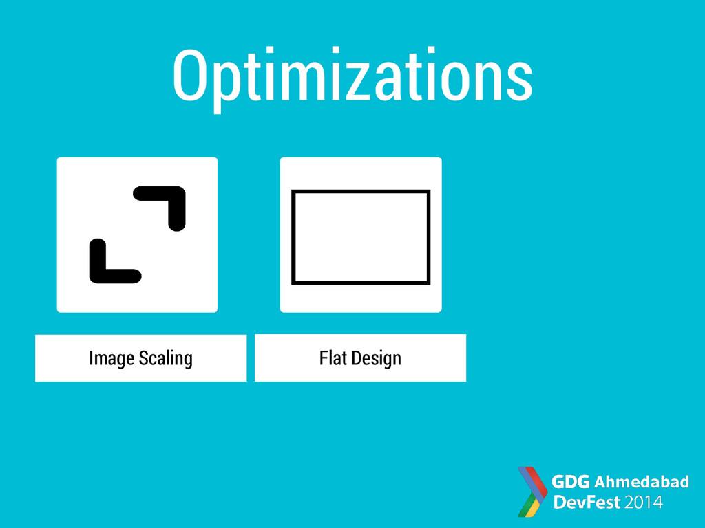Optimizations Image Scaling Flat Design