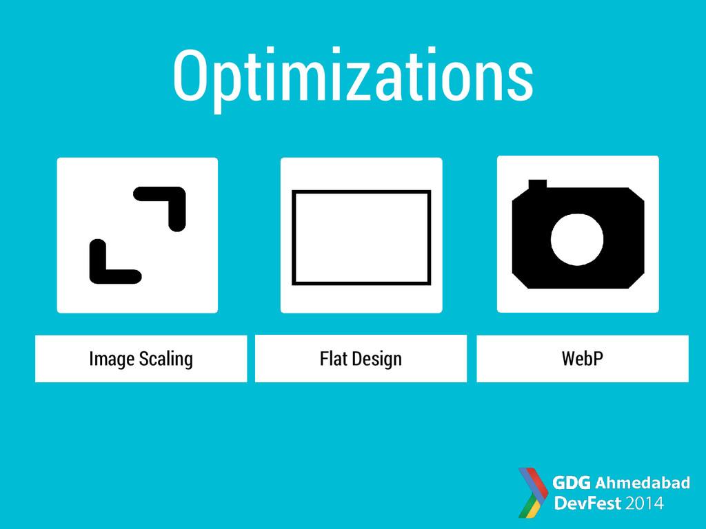 Optimizations Image Scaling WebP Flat Design