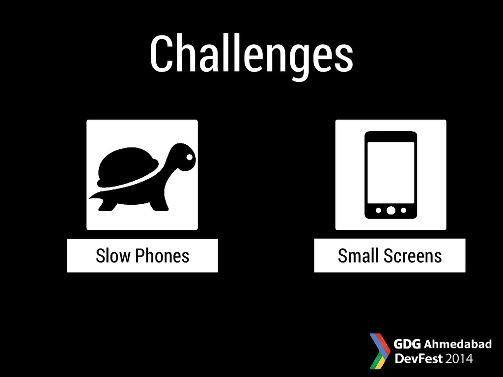Small Screens Slow Phones Challenges