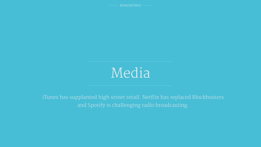 BOAGWORKS Media iTunes has supplanted high stre...
