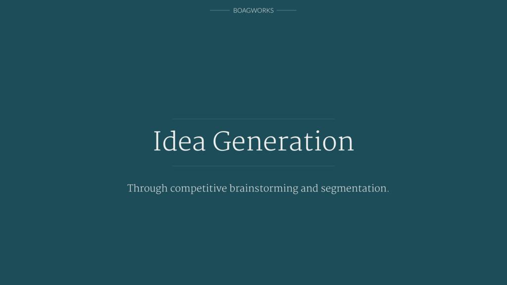 BOAGWORKS Idea Generation Through competitive b...