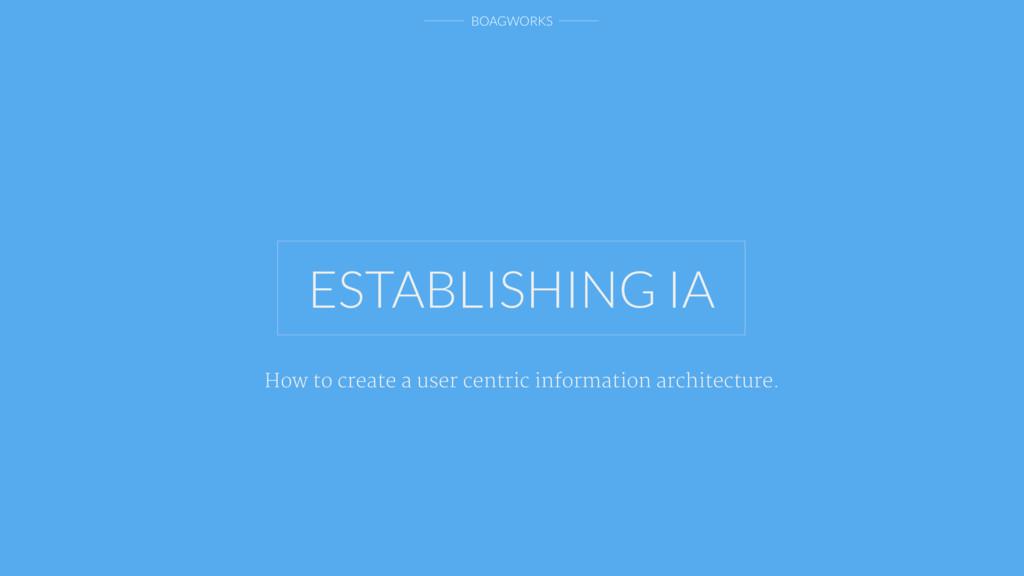 BOAGWORKS ESTABLISHING IA How to create a user ...
