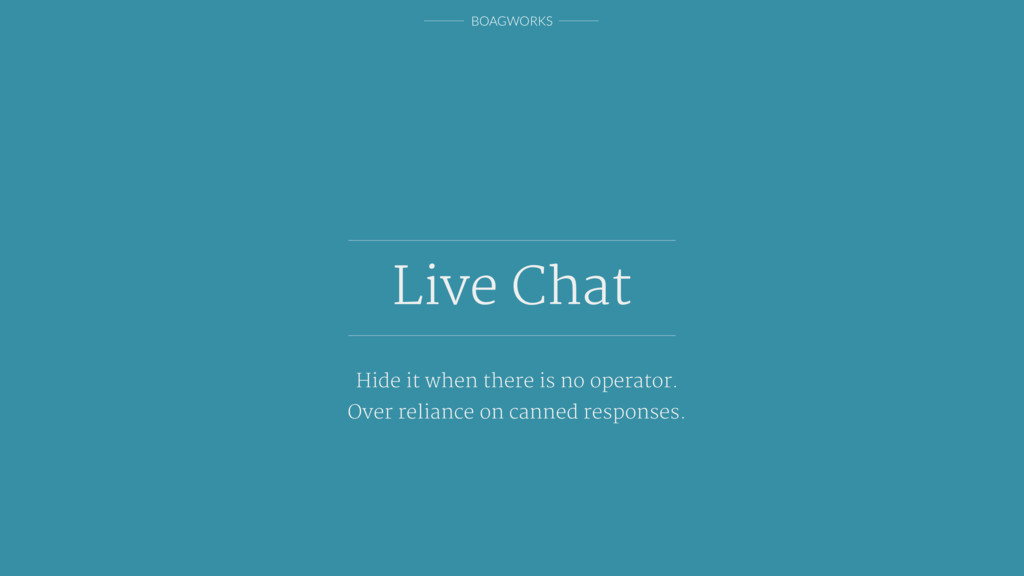 BOAGWORKS Live Chat Hide it when there is no op...