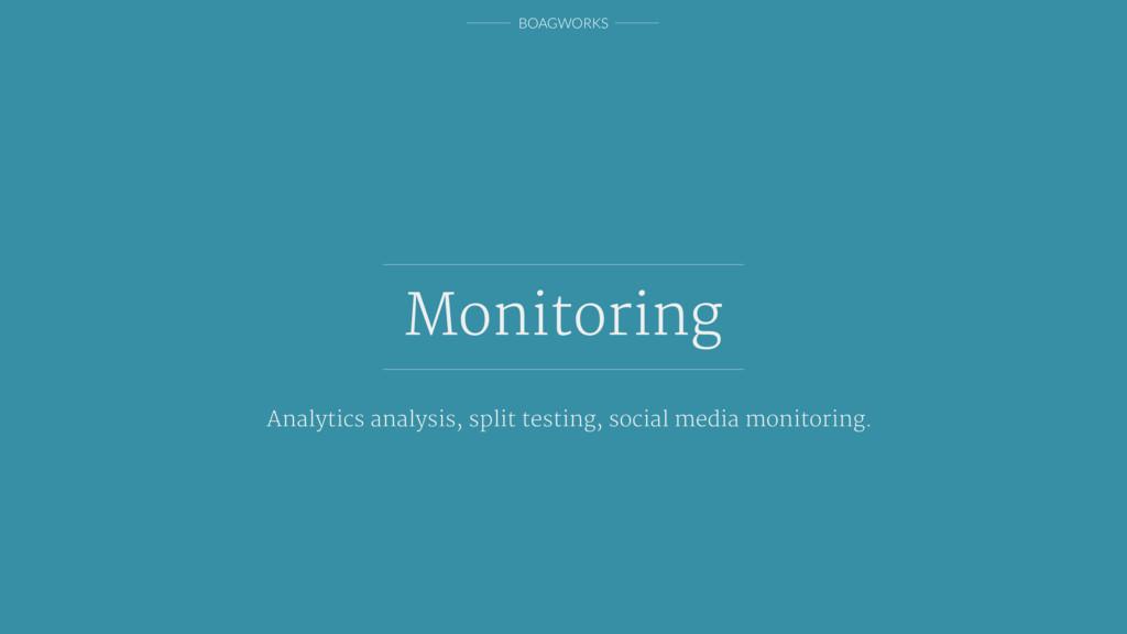 BOAGWORKS Monitoring Analytics analysis, split ...