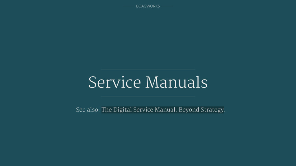 BOAGWORKS Service Manuals See also: The Digital...
