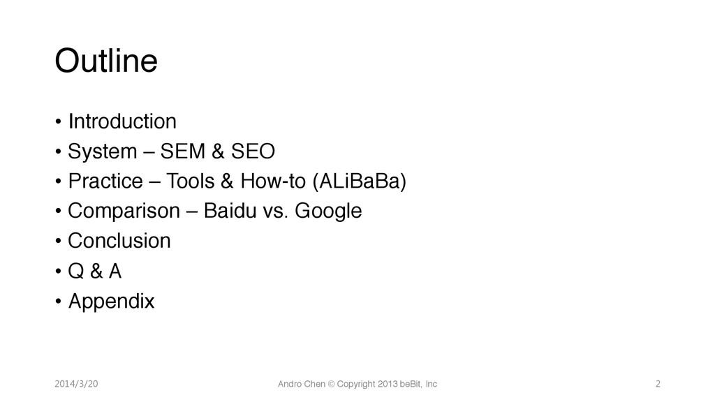 """Outline • Introduction"""" • System – SEM & SE..."""