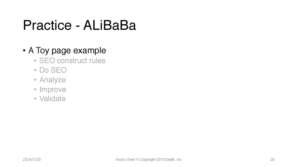 """Practice - ALiBaBa • A Toy page example"""" • ..."""