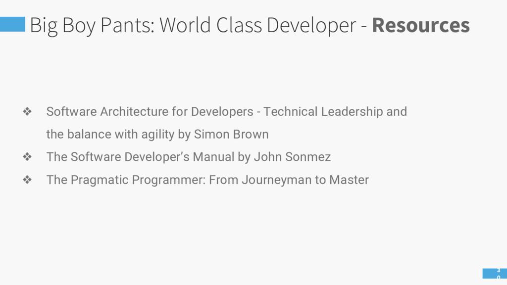 Big Boy Pants: World Class Developer - Resource...