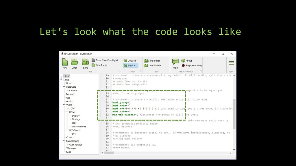 Let's look what the code looks like