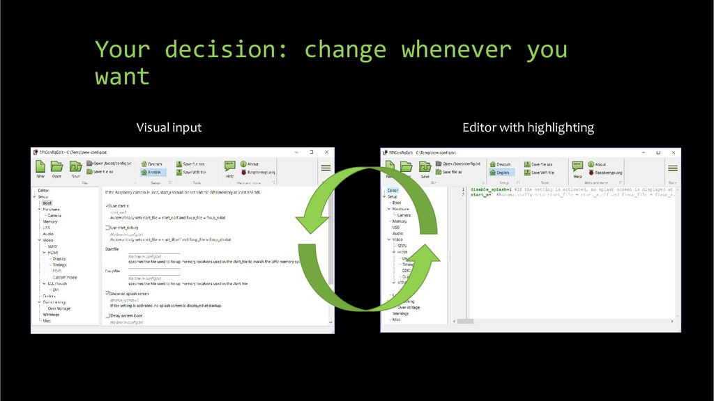 Your decision: change whenever you want Visual ...