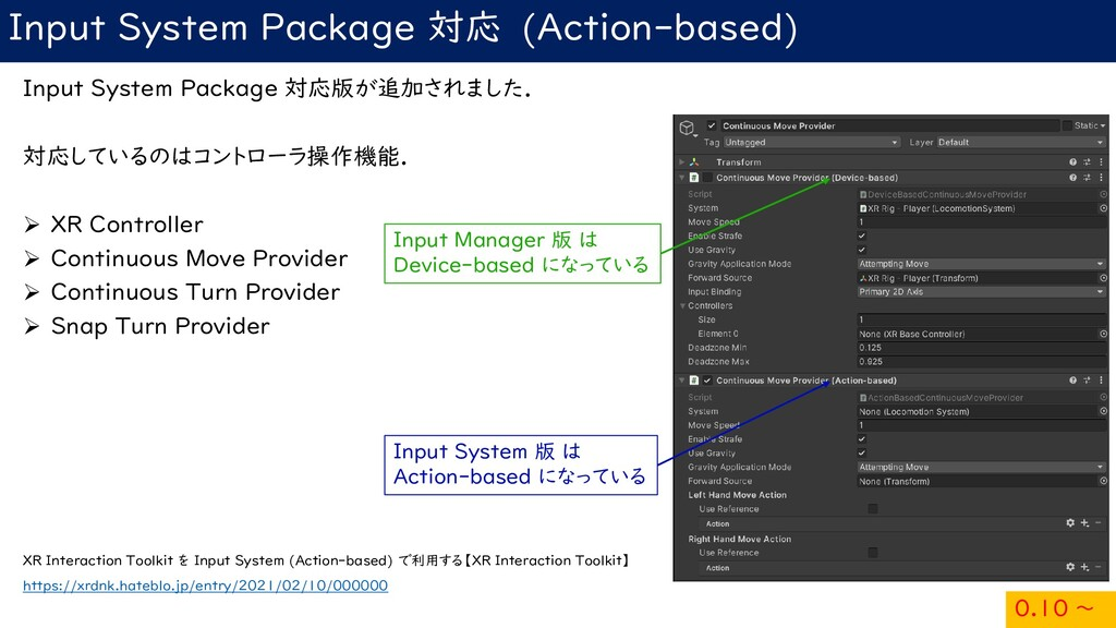 Input System Package 対応 (Action-based) Input Sy...