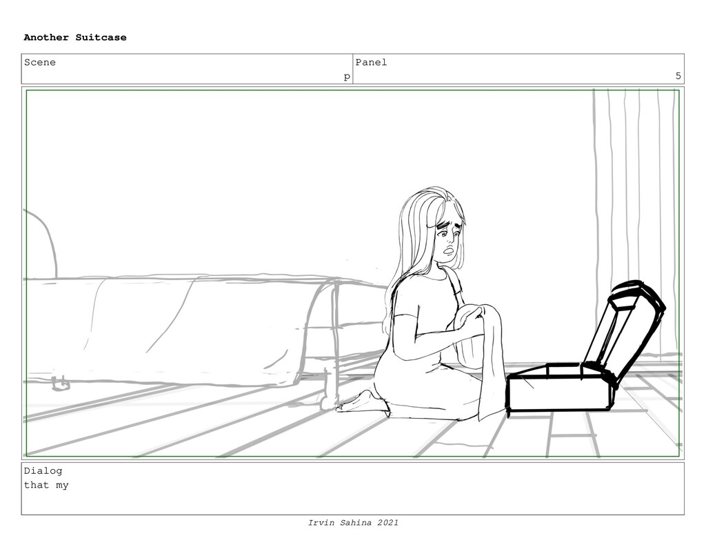Scene p Panel 5 Dialog that my Another Suitcase...