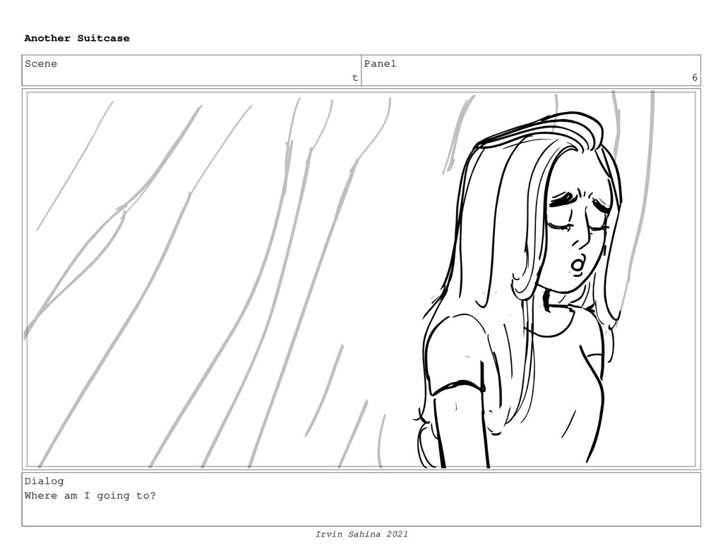 Scene t Panel 6 Dialog Where am I going to? Ano...
