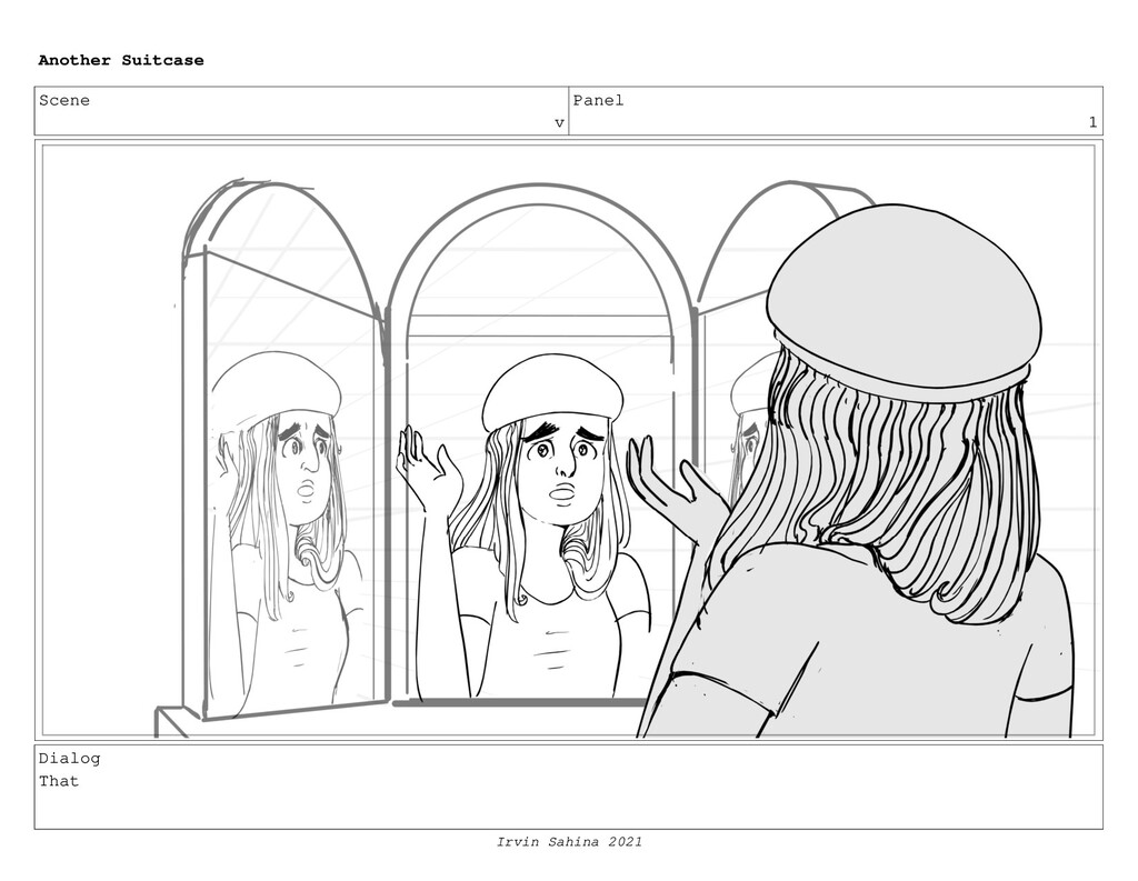 Scene v Panel 1 Dialog That Another Suitcase Ir...
