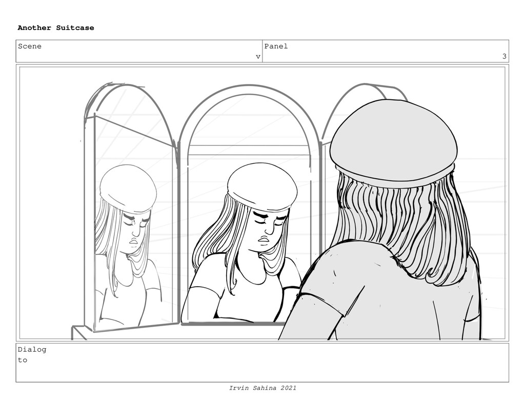 Scene v Panel 3 Dialog to Another Suitcase Irvi...